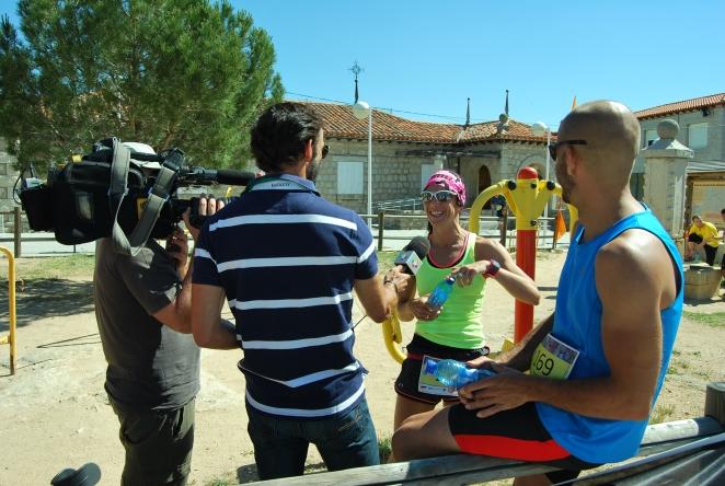 Isabel del Barrio y Manu entrevista WITL Trail Lozoyuela Madrid