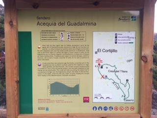 Leyendo del sendero Acequia Guadalmina